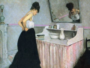 Caillebotte Woman At A Dressing Table