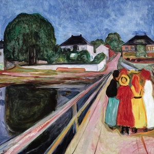 Edvard Munch Girls on the Pier II