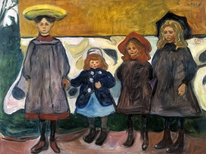 Edvard Munch Four Girls in Asgardstrand