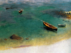 Sargent A Boat Inthe Waters Off Capri