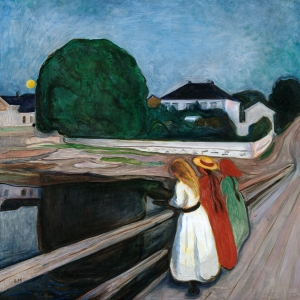 Edvard Munch Girls on the Pier