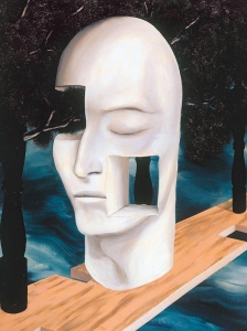 Magritte Face Of Genius