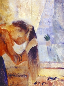 Edvard Munch Girl Combing Her Hair