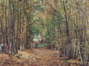 Pissarro The Woods at Marly