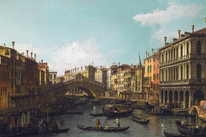 Canaletto View Of The Grand Canal Rialto Bridge