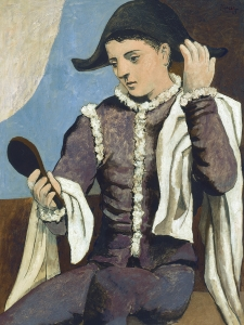 Picasso Harlequin With A Mirror