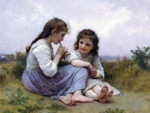 Bouguereau A Childhood Idyll