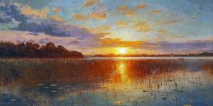 Monsted Sunset Over A Danish Fiord