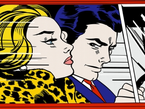 Pop Art  Lichtenstein In The Car