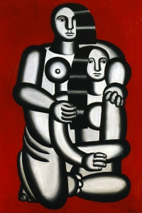 Leger Two Figures Naked On Red Bottom