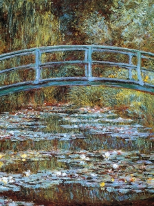 Monet Bridge Over The Sea Rose Pond