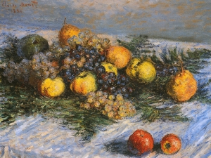 Monet Pears And Grapes