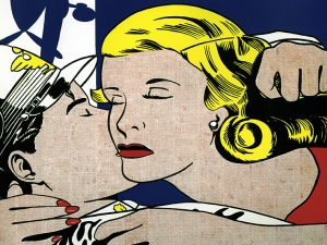 Pop Art  Lichtenstein The Kiss
