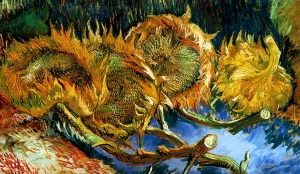 Van Gogh  Four Sunflowers Gone To Seed