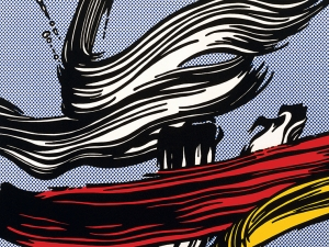 Pop Art  Lichtenstein Brushstrokes