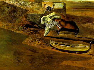 Dali Atmospheric Skull Sodomizing A Grand Piano