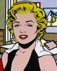 Pop Art  Lichtenstein Monroe